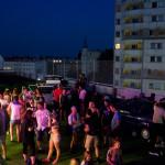 Privat Party im Parkhaus Kreuzberg im dunklen