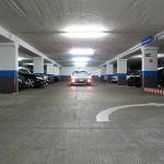 Parkhaus Berlin mit Mustang