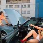 Privat Party im Parkhaus Kreuzberg mit Mustang und Mädels